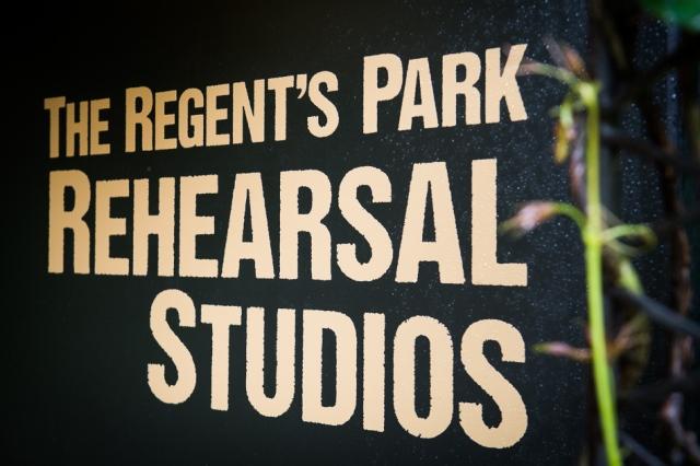 Regent's Park Rehearsal Studio sign.